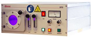 Reactor de plasma de radiofrecuencia con dos entradas de gas y medidor de presion pirani