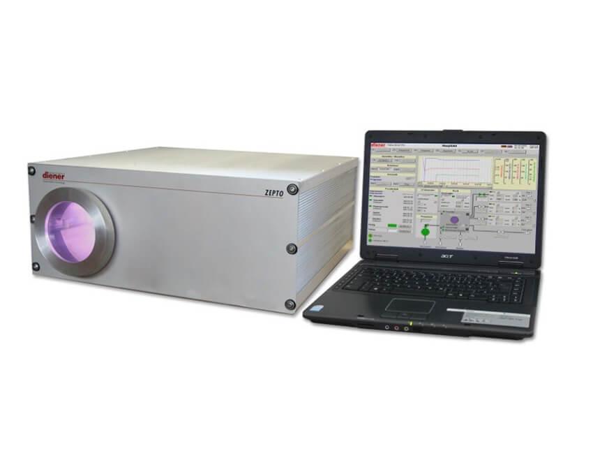 Equipo de plasma en baja presion controlado por software